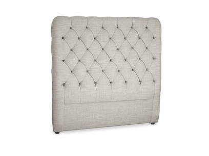 Double Tall Billow Headboard in Grey Daybreak Clever Laundered Linen