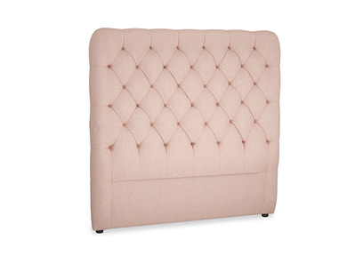 Double Tall Billow Headboard in Pale Pink Clever Woolly Fabric
