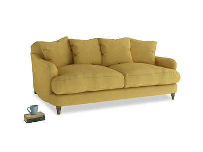 Medium Achilles Sofa in Easy Yellow Clever Woolly Fabric