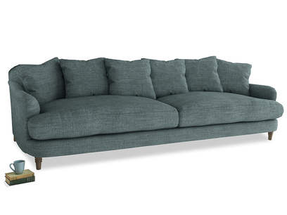 Extra large Achilles Sofa in Anchor Grey Clever Laundered Linen