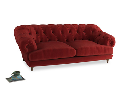Large Bagsie Sofa in Rusted Ruby Vintage Velvet