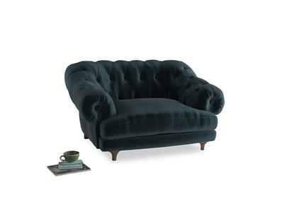 Bagsie Love Seat in Bluey Grey Clever Deep Velvet