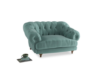 Bagsie Love Seat in Greeny Blue Clever Deep Velvet