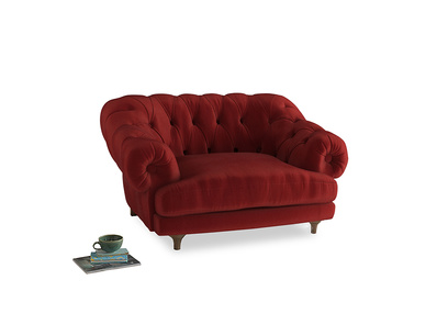 Bagsie Love Seat in Rusted Ruby Vintage Velvet