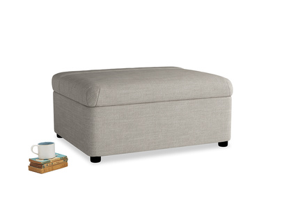 Single Bed in a Bun in Grey Daybreak Clever Laundered Linen