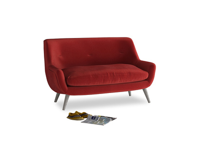 Small Berlin Sofa in Rusted Ruby Vintage Velvet