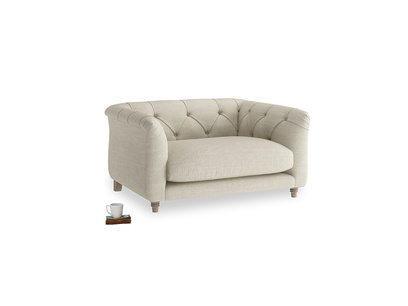 Boho Love Seat in Shell Clever Laundered Linen