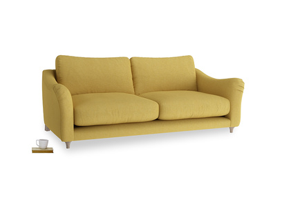 Large Bumpster Sofa in Easy Yellow Clever Woolly Fabric