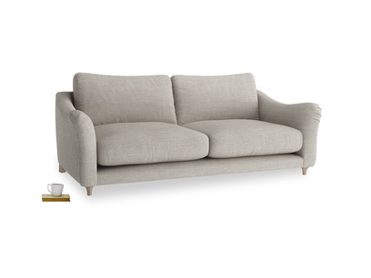 Large Bumpster Sofa in Grey Daybreak Clever Laundered Linen