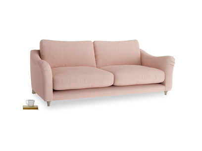 Large Bumpster Sofa in Pale Pink Clever Woolly Fabric
