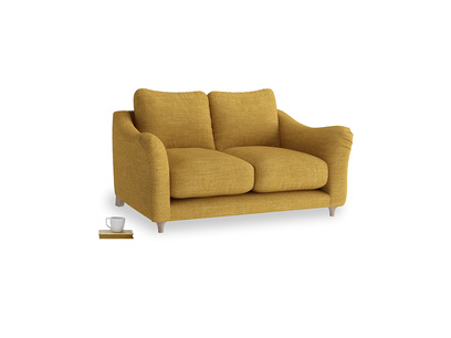 Small Bumpster Sofa in Mellow Yellow Clever Laundered Linen