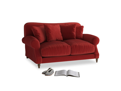 Small Crumpet Sofa in Rusted Ruby Vintage Velvet