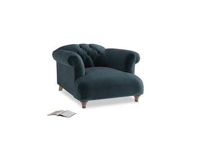Dixie Armchair in Bluey Grey Clever Deep Velvet