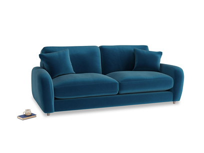 Medium Easy Squeeze Sofa in Berlin Blue Clever Deep Velvet