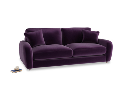 Medium Easy Squeeze Sofa in Deep Purple Clever Deep Velvet