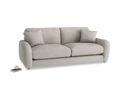 Medium Easy Squeeze Sofa in Grey Daybreak Laundered Linen