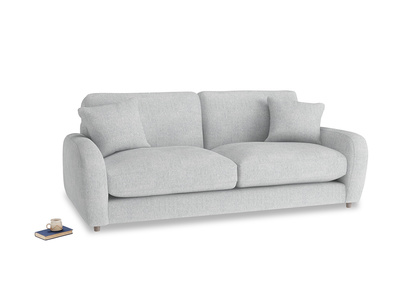 Medium Easy Squeeze Sofa in Pebble vintage linen