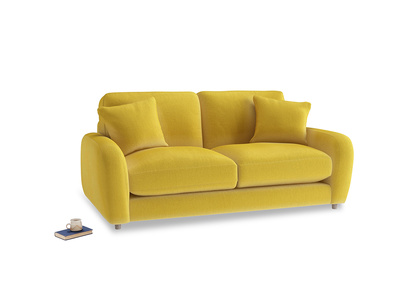Small Easy Squeeze Sofa in Bumblebee clever velvet