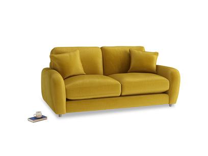 Small Easy Squeeze Sofa in Burnt yellow vintage velvet