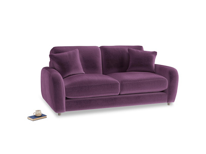 Small Easy Squeeze Sofa in Grape clever velvet