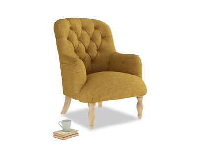 Flump Armchair in Mellow Yellow Clever Laundered Linen