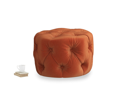 Gumdrop in Old Orange Clever Deep Velvet