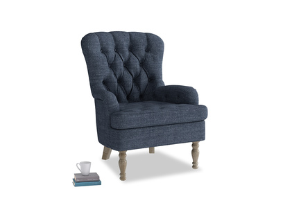 Hound Dog in Selvedge Blue Clever Laundered Linen