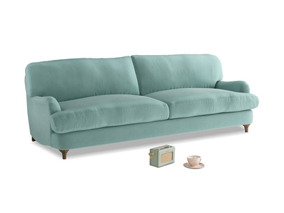 Large Jonesy Sofa in Greeny Blue Clever Deep Velvet