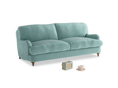 Medium Jonesy Sofa in Greeny Blue Clever Deep Velvet