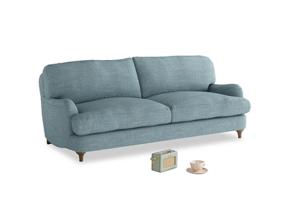 Medium Jonesy Sofa in Soft Blue Clever Laundered Linen