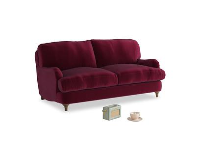 Small Jonesy Sofa in Merlot Plush Velvet