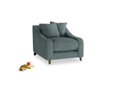 Oscar Armchair in Anchor Grey Laundered Linen