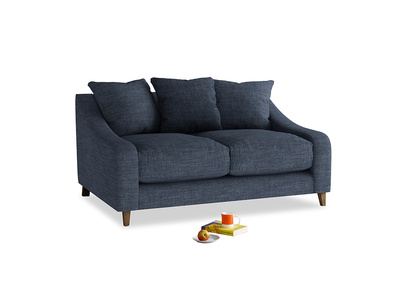 Small Oscar Sofa in Selvedge Blue Clever Laundered Linen
