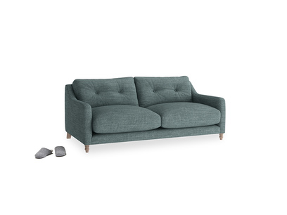 Small Slim Jim Sofa in Anchor Grey Clever Laundered Linen