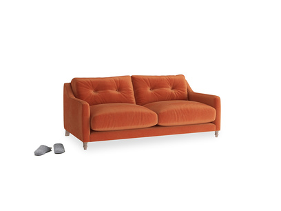 Small Slim Jim Sofa in Old Orange Clever Deep Velvet