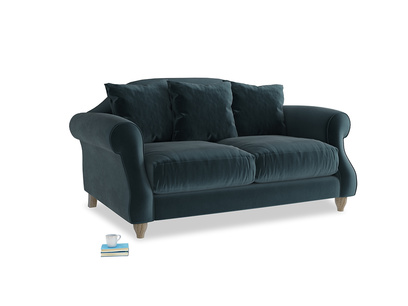 Small Sloucher Sofa in Bluey Grey Clever Deep Velvet