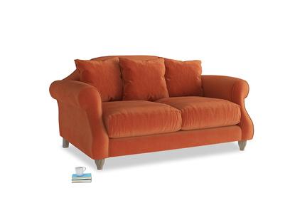 Small Sloucher Sofa in Old Orange Clever Deep Velvet