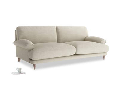 Large Slowcoach Sofa in Shell Clever Laundered Linen