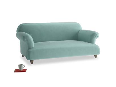 Medium Soufflé Sofa in Greeny Blue Clever Deep Velvet