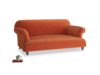 Medium Soufflé Sofa in Old Orange Clever Deep Velvet