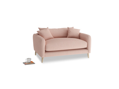 Squishmeister Love Seat in Pale Pink Clever Woolly Fabric
