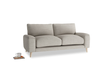 Small Strudel Sofa in Grey Daybreak Clever Laundered Linen