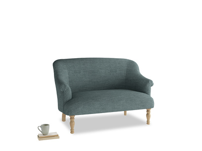 Small Sweetie Sofa in Anchor Grey Clever Laundered Linen