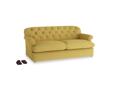 Large Truffle Sofa Bed in Easy Yellow Clever Woolly Fabric