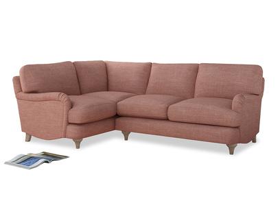 Large Left Hand Jonesy Corner Sofa in Blossom Clever Laundered Linen