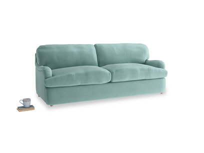 Large Jonesy Sofa Bed in Greeny Blue Clever Deep Velvet