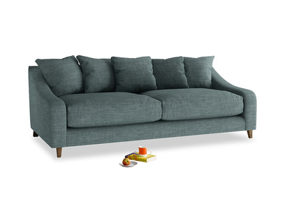 Large Oscar Sofa in Anchor Grey Clever Laundered Linen