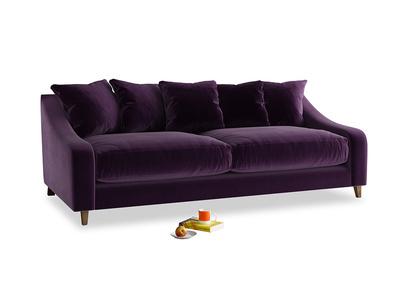 Large Oscar Sofa in Deep Purple Clever Deep Velvet