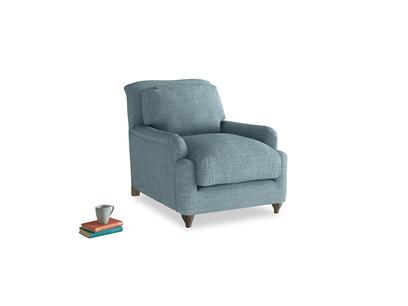 Pavlova Armchair in Soft Blue Laundered Linen