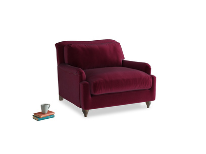 Pavlova Love seat in Merlot Plush Velvet